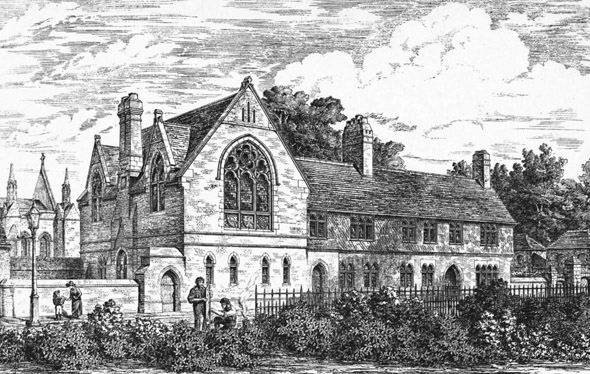 1888 – Choir School & Master's House, Rochester Cathedral, Kent