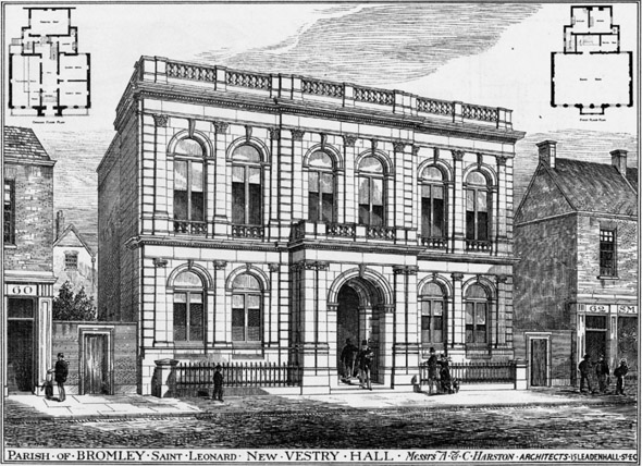 1879 &#8211; New Vestry Hall, Bromley, Kent