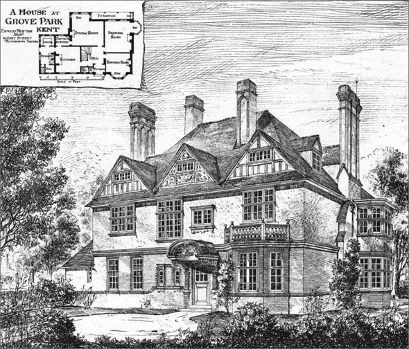 1883 &#8211; House at Grove Park, Kent