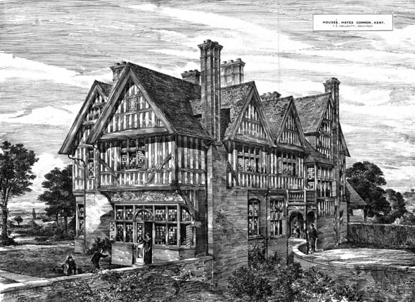 1883 &#8211; Houses, Hayes Common, Kent