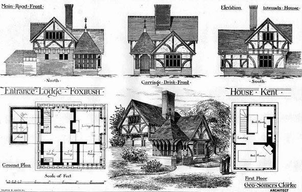 1877 – Entrance Lodge, Foxbush House, Kent