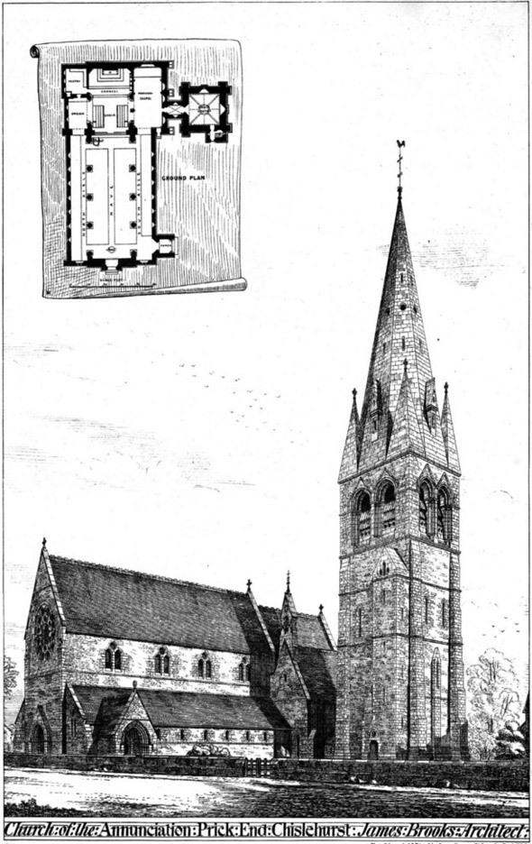 1875 &#8211; Church of The Annunciation,  Prick End, Chislehurst, Kent