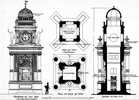 1888 – Design for Clock Tower, Margate, Kent