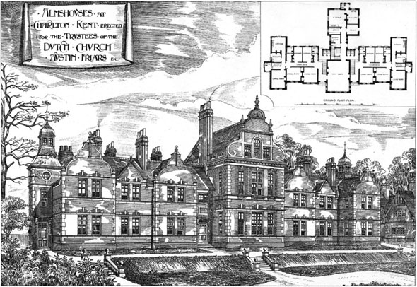 1887 &#8211; Almshouses, Charlton, Kent