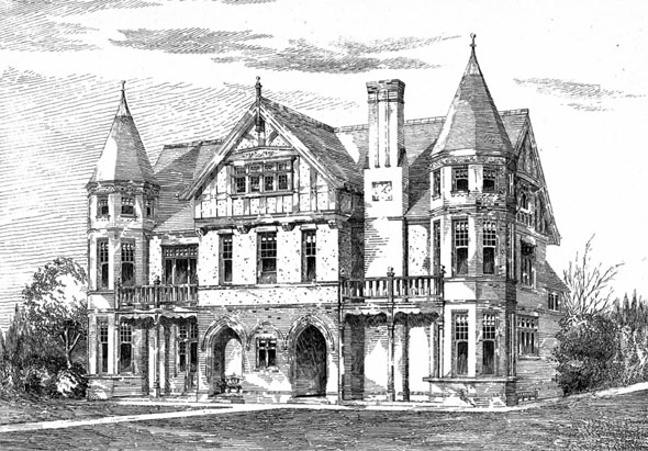 1892 –  House, South Hill Park, Bromley, Kent