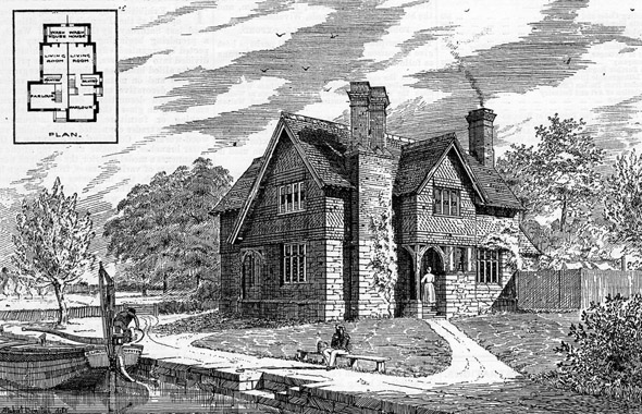 1887 – A Pair of Cottages, Allington Lock, Maidstone, Kent