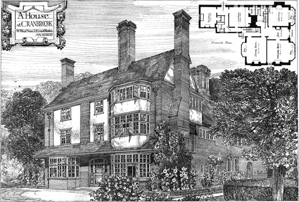 1882 &#8211; House at Cranbrook, Kent