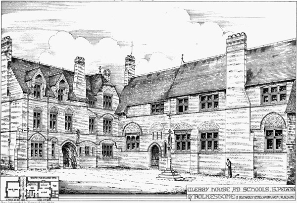 1872 – Clergy House & Schools, St. Peter's, Folkestone, Kent