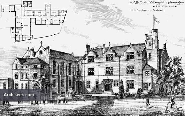 1884 – All Saints Boys Orphanage, Lewisham, Kent