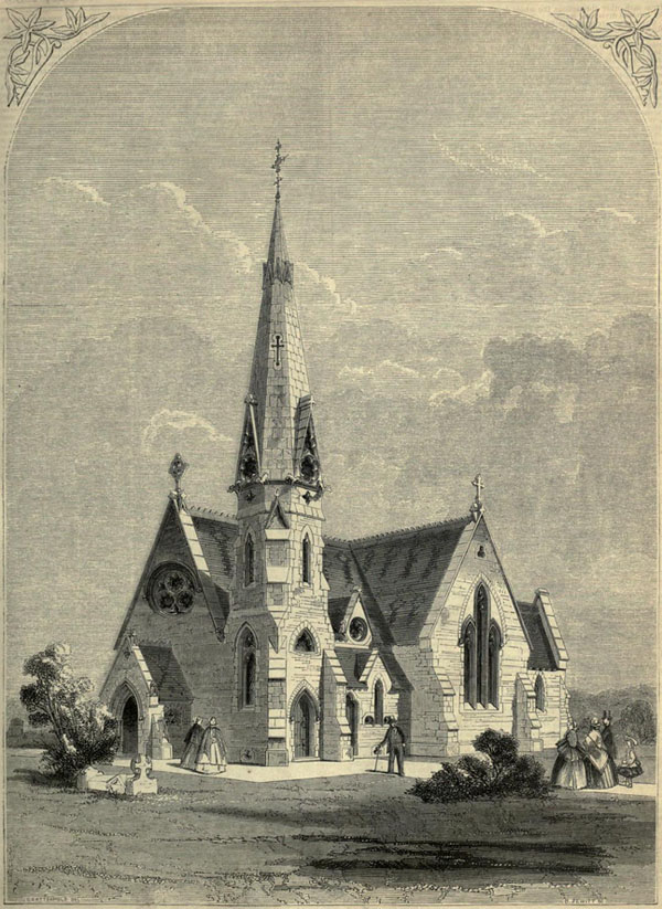 1860 &#8211; Cemetary Chapel, Ashford, Kent