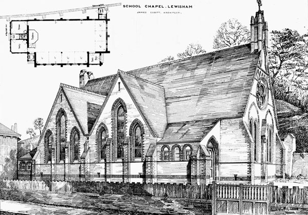 1884 &#8211; School Chapel, Lewisham, Kent