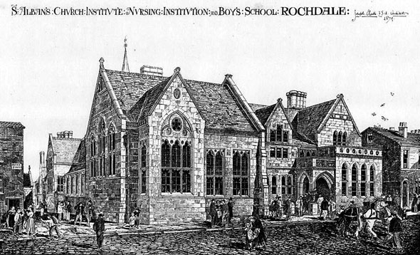 1874 – St. Alban's Nursing Institution & Boy's School, Rochdale, Lancashire