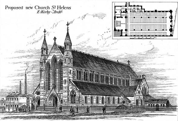 1877 – Proposed New Church, St. Helens, Lancashire
