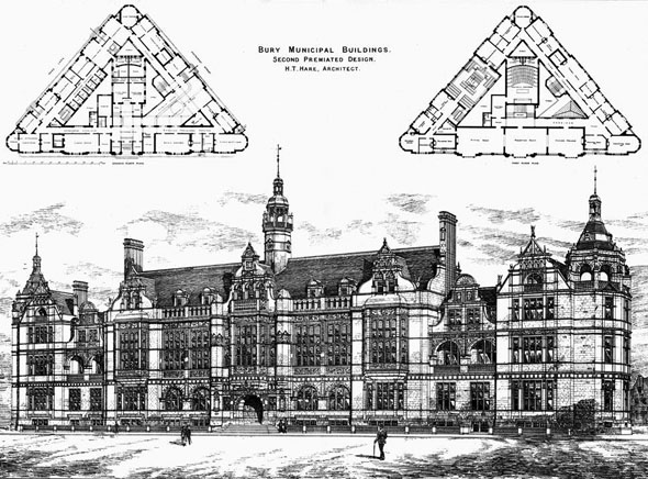 1891 – New Municipal Buildings, Bury, Lancashire