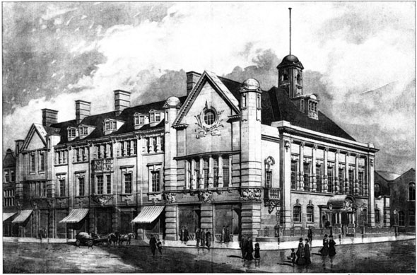 1906 &#8211; Leigh Town Hall, Lancashire
