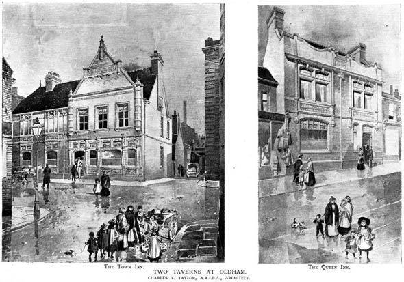 1901 – Two Taverns at Oldham, Lancashire