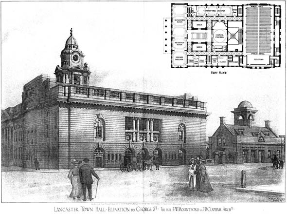 1908 &#8211; Lancaster Town Hall, Lancashire