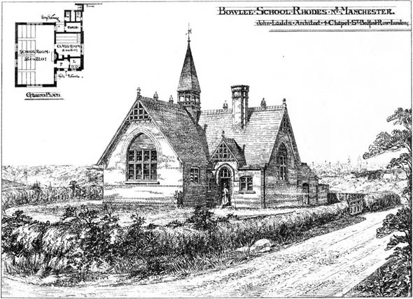 1875 – Bowlee School at Rhodes, Lancashire