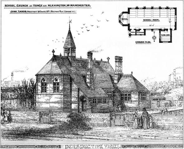 1875 – Church School at Tonge, Alkrington, Lancashire