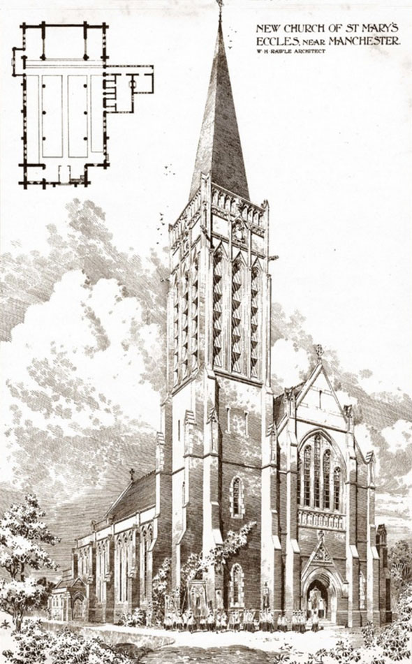 1904 – Church of St. Mary, Eccles, Lancashire