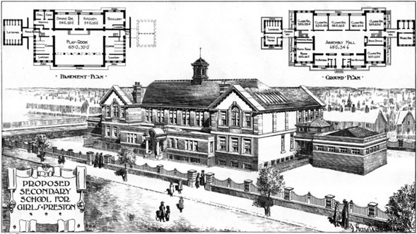 1906 &#8211; Preston School for Girls, Lancashire