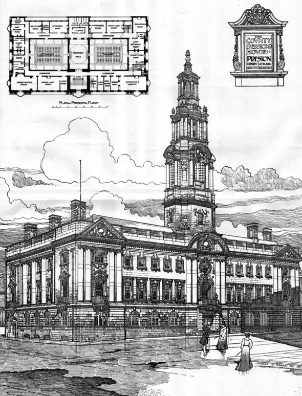 1906 &#8211; County Sessions House, Preston, Lancashire