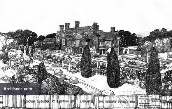 1908 – House & Garden at Bailrigg, Lancaster, Lancashire