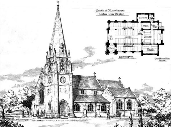 1895 &#8211; Church of St. Lawrence, Barton, Preston, Lancashire