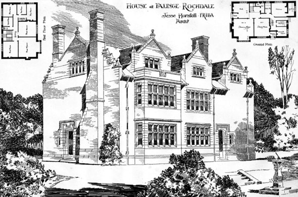 1899 – House at Falinge. Rochdale, Lancashire