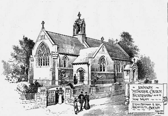 1905 – Johnson Memorial Church, Bickershaw, Wigan, Lancashire