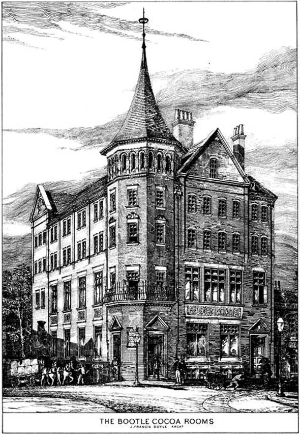 1884 &#8211; The Bootle Cocoa Rooms, Bootle, Lancashire