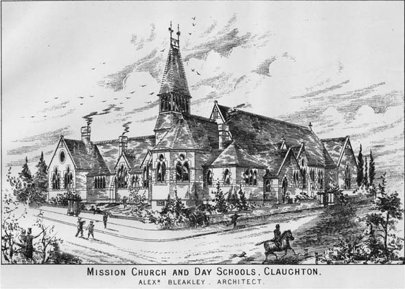 1883 &#8211; Mission Church &#038; School, Claughton, Lancashire