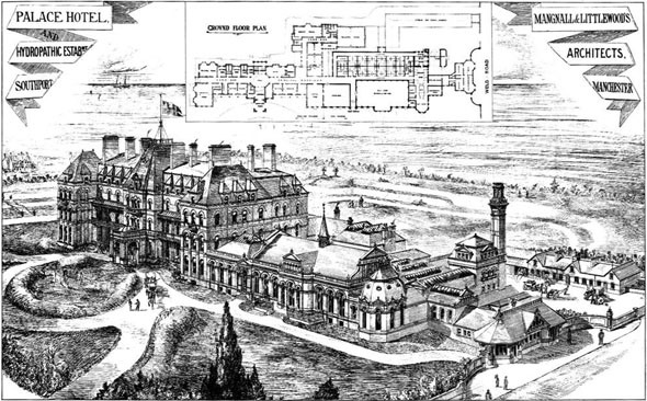 1880 &#8211; Palace Hotel &#038; Hydropathic Establishment, Southport, Lancashire