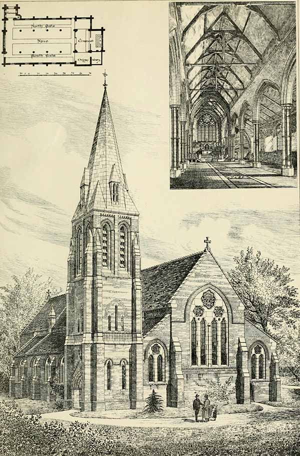 1881 &#8211; New Church at Longton, Nr. Preston, Lancashire