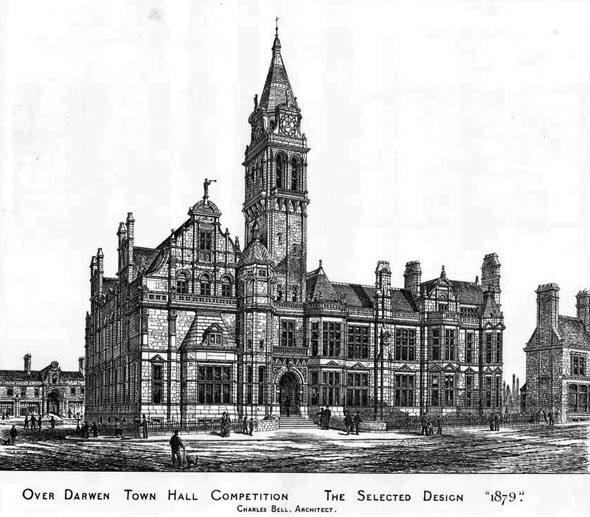 1879 &#8211; Over Darwen Town Hall, Lancashire