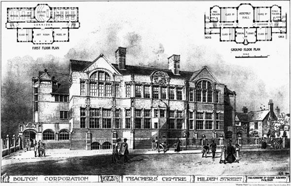 1906 &#8211; Teachers Centre, Hilden Street, Bolton, Lancashire