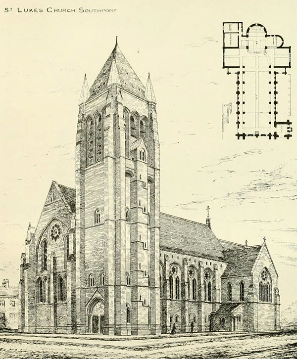 1879 – Unbuilt Design for St. Luke's Church, Southport, Lancashire