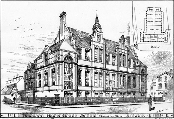 1893 &#8211; Higher Grade School, Ardwick, Lancashire