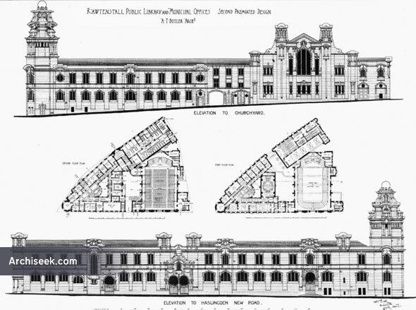 1884 – Rawtenstall Public Library & Municipal Offices, Lancashire
