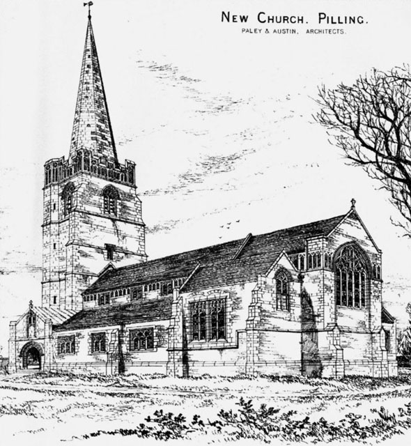 1883 &#8211; New Church, Pilling, Lancashire