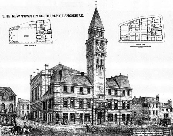 1875 &#8211; Town Hall, Chorley, Lancashire