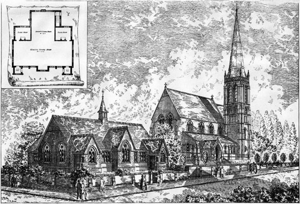 1887 – St Pauls Church Schools & Heaton Chapel, Stockport, Lancashire