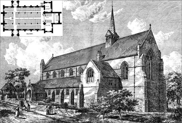 1886 &#8211; Church of St. Peter, Accrington, Lancashire
