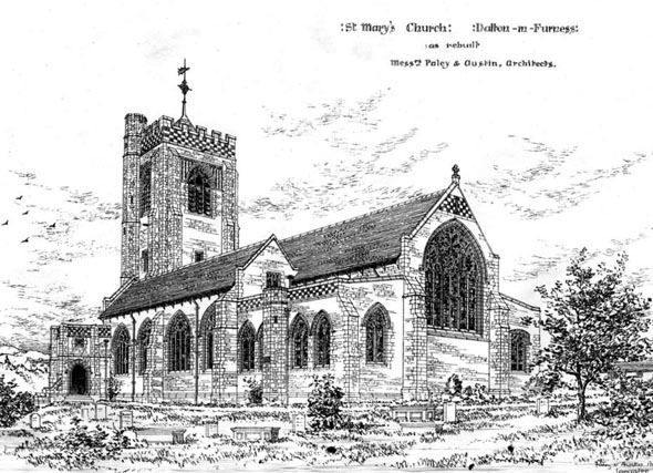 1886 &#8211; St. Mary&#8217;s Church, Dalton in Furness, Lancashire