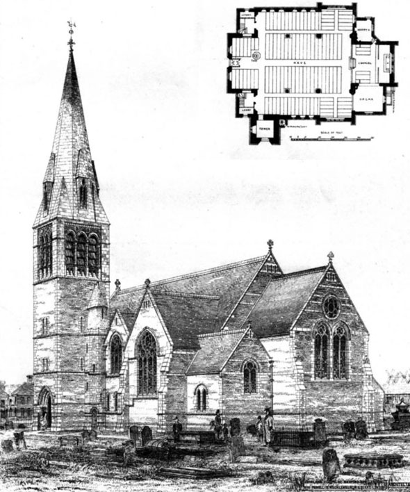 1875 &#8211; St. John&#8217;s Church, Blackpool, Lancashire
