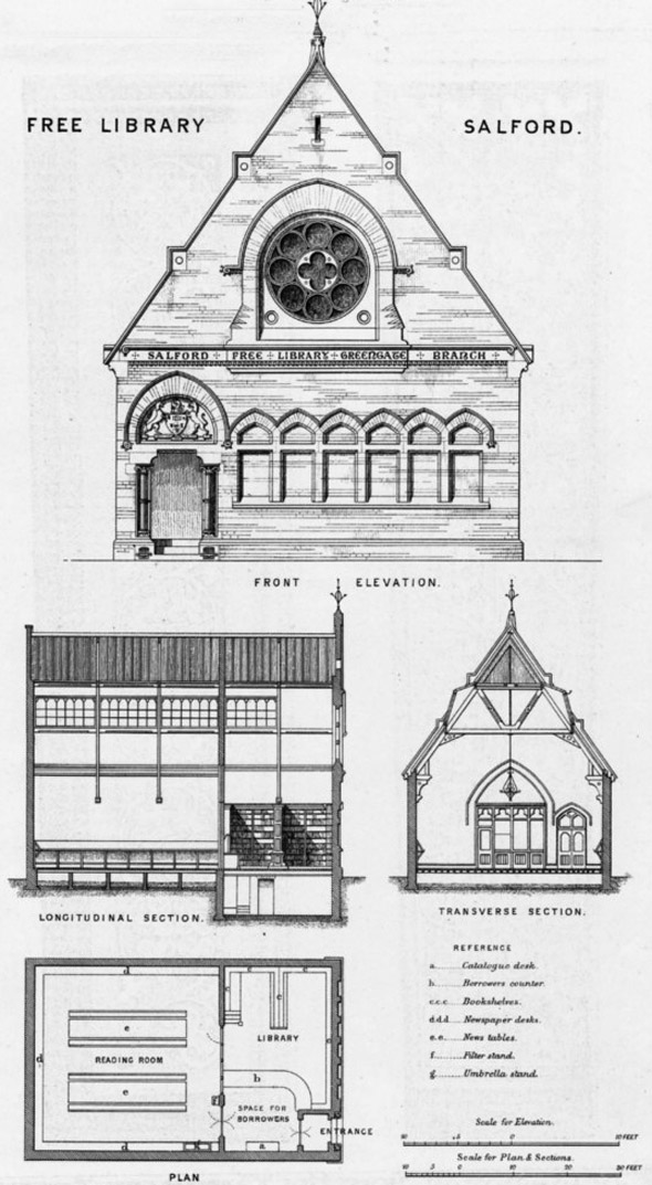 1870 – Free Library, Salford, Lancashire