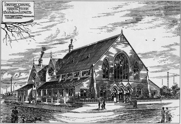 1887 &#8211; Baptist Chapel &#038; Mission Rooms, Bootle, Lancashire