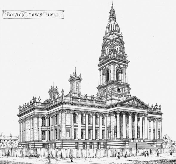 1873 &#8211; Bolton Town Hall, Lancashire
