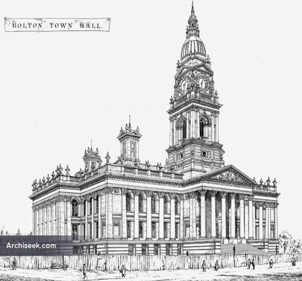 1873 – Bolton Town Hall, Lancashire