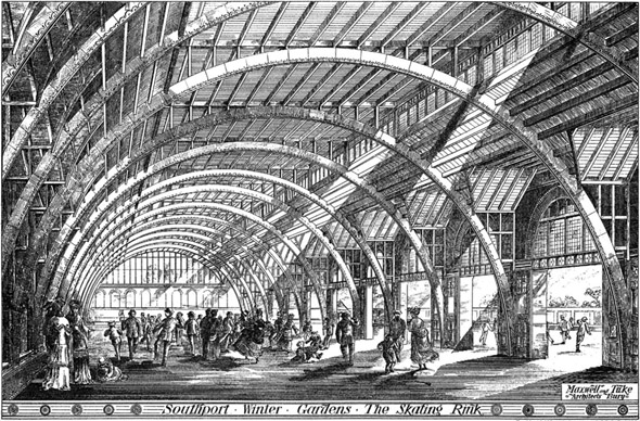 1874 &#8211; Skating Rink, Southport Winter Gardens, Lancashire